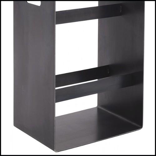 Suspension avec cylindres en verre cristal côtelés maintenus par une structure en laiton poli plaqué Gold 164-Fall Double Ring
