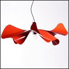 Suspension in stainless steel in red varnished finish 107-Poppy Red