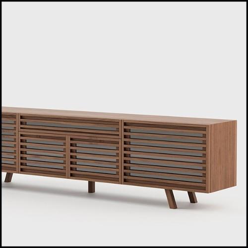 Lampadaire avec structure en laiton massif finition Gold et verre clair 165-Coltrane