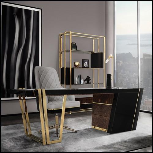 Table avec base en céramique bleue fabriquée à la main 30-Blue Ceramic