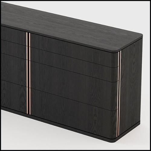 Lampe de bureau avec structure en laiton poli ou en nickel avec abat-jour finition black 24-Oredo