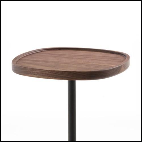 Console avec 3 pieds en laiton poli brillant finition Gold et dessus en marbre noir 164-Oldies