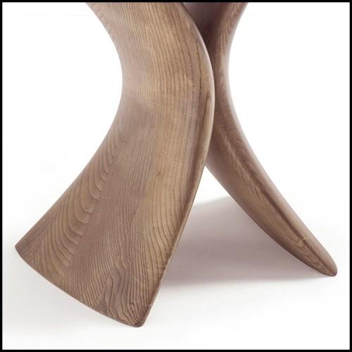 Vase en verre noir soufflé à la main et avec masque en bronze finition Gold 104-Venise Mask