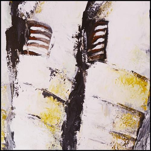 Table avec plateau en bois laqué noir et tiges en laiton poli autour d'une base en marbre noir 164-Maxima Round