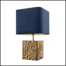 Table Lamp with structure in vintage brass finish 24-70's Style