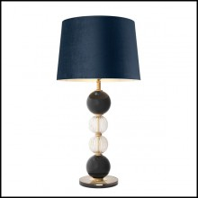 Table lamp with structure in antique brass finish and hand blown glass 24-Glass Spheres