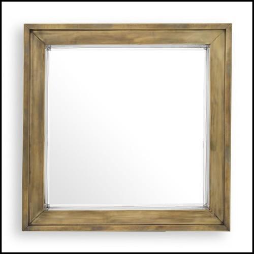 Applique avec structure finition laiton antique et verre blanc 24-Sphericals