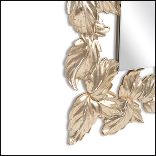 Miroir en verre fondu à haute température et finition plaqué argent à l'arrière 146-Glass Pearl Round