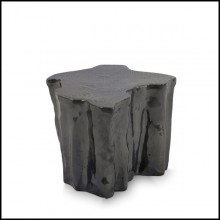 Side table made in handcrafted black ceramic 145-Heaven Black
