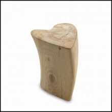 Stool made in natural solid cedar wood with natural pine extract wax treatment 154-Cedar Heart