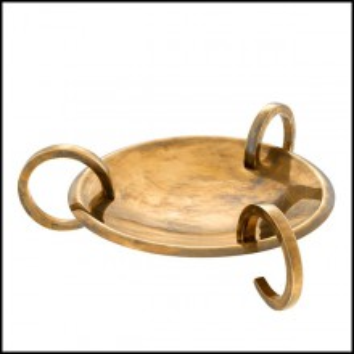 Plateau finition laiton vintage 24-Brass Roundy