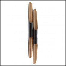 Wall lamp with black matte finish steel structure and gold-plated inside 151-Tubas