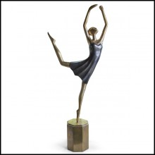 Sculpture tout en laiton coulé 119-Star Dancer