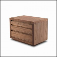 Table de chevet ou table d'appoint en bois de noyer massif 154-Walnut