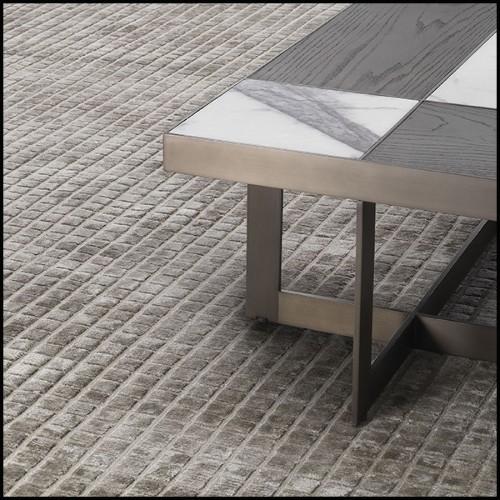 Serre-livres avec structure en bois pétrifié massif d'Indonésie 24-Petrified