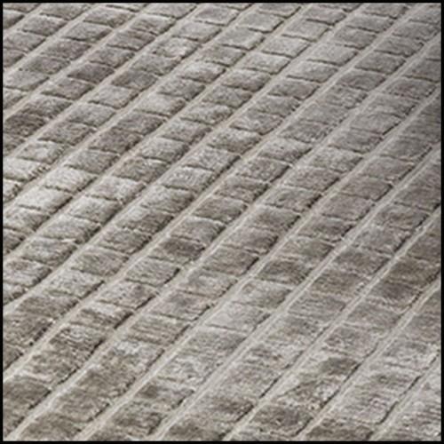 Cabinet avec structure en racine de noyer massif recouvert de tubes en laiton plaqué Gold 169-Brass Case