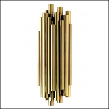 Applique avec structure en laiton massif poli finition Gold 151-Brass Tubes