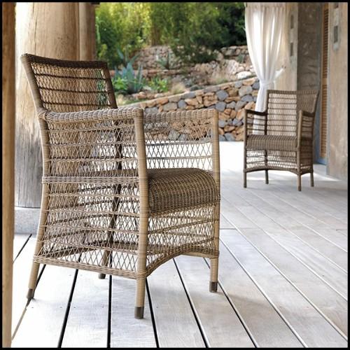 Table d'appoint avec structure en aluminium poli 30-Alu