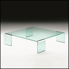 Table basse en verre courbé de 12 mm d'épaisseur 146-Curved Glass