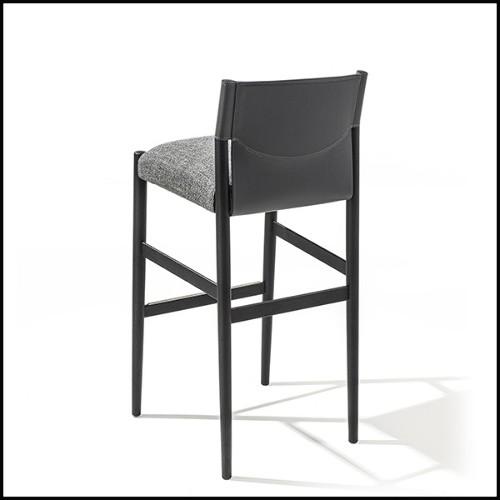 Table d'appoint ou bout de canapé avec structure en aluminium revêtu de poudre blanche et plateau en teck 45-Sandglass
