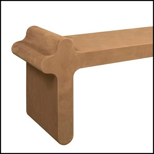 Table basse avec structure en acier inoxydable finition laiton brossé et plateau en marbre gris 24-Quiz