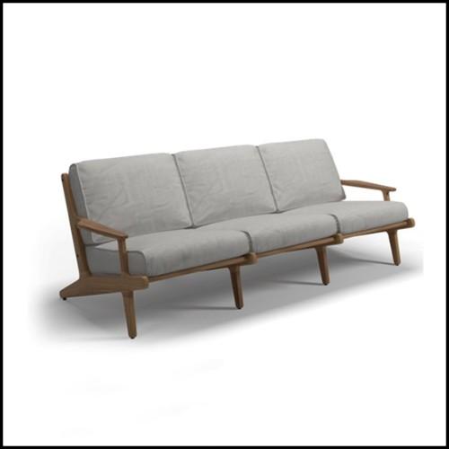 Miroir avec cadre en bois d'acajou massif finitions Black et laiton 24-Emble