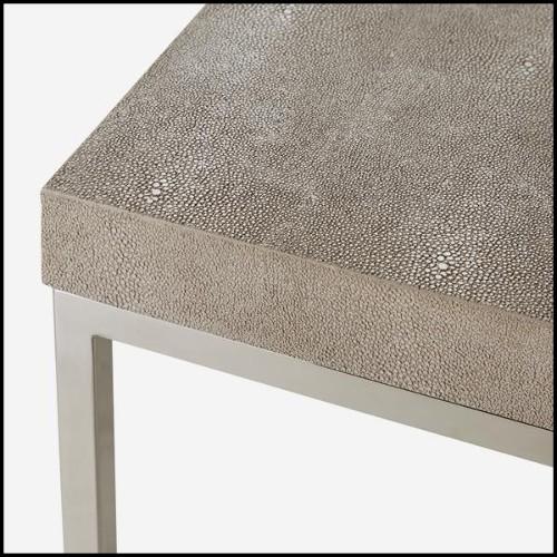 Table basse avec structure en acier inoxydable finition bronze et plateau en marbre beige 24-Quiz