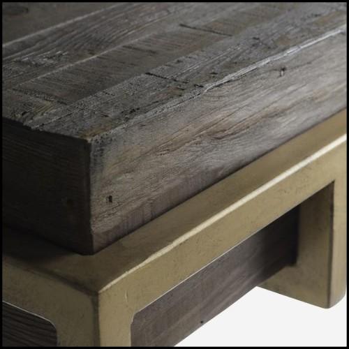 Tabouret avec structure en céramique noire ou blanche 30-Mushroom Ceramic