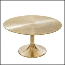 Table basse en aluminium cerclé finition Gold 162-Alu Gilt