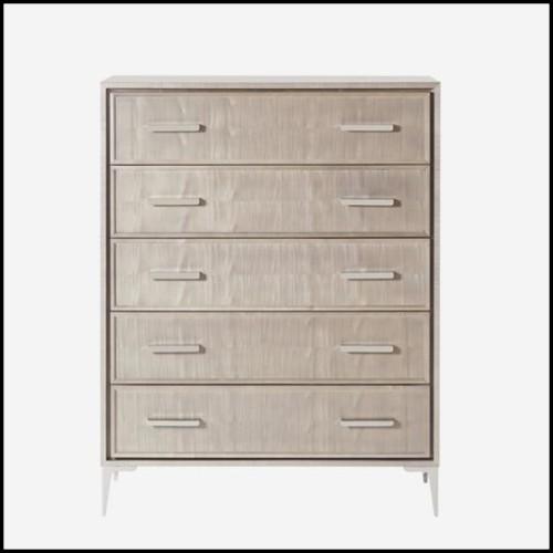 Étagère avec structure en acier inoxydable finition Gold ou poli et étagères en verre clair biseauté 24-Florence