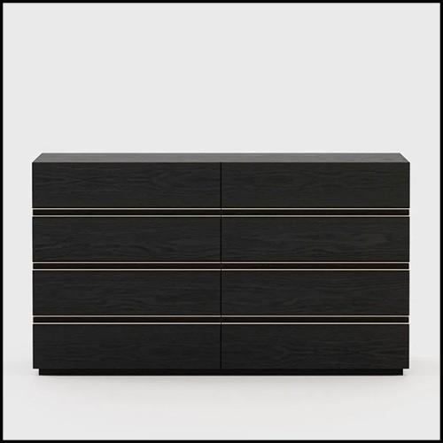 Banc avec dessus en bois de noyer verni massif fabriqué à la main et base en métal forgé 163-Walnut Grid