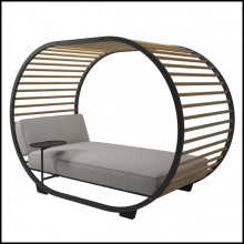 Daybed with structure in anthracite powder coated aluminum 45-Nest Lounge