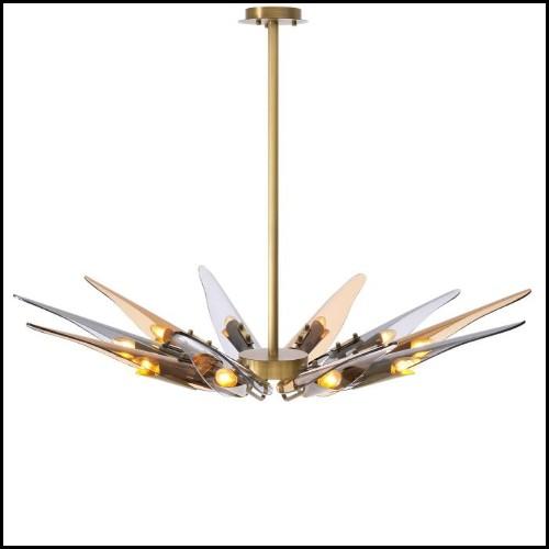 Table d'appoint avec structure en bois d'acajou massif sculpté et peinte à la main avec peinture à l'or antique 119-Antonini