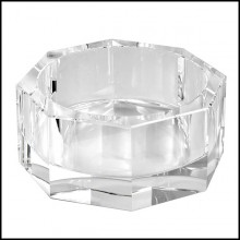 Bowl in clear crystal glass 24- Fender