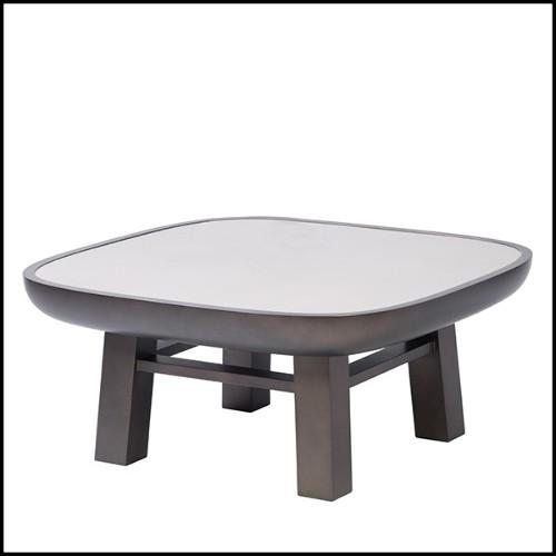 Vase en acier inoxydable poli avec feuille plaqué or 24 carats 172-Gold Leave