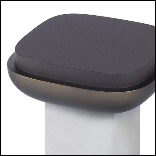 Table d'appoint avec structure en métal doré et plateau en pierre naturelle verte 162-Green Stone