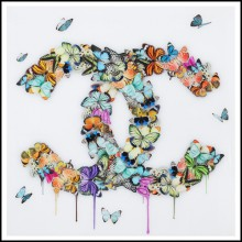 Photo wall decoration plexiglass PC-Chanel Butterflies