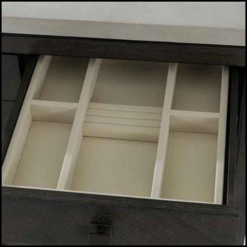 Colonne avec structure en marbre gris et base en marbre noir 24-Rio