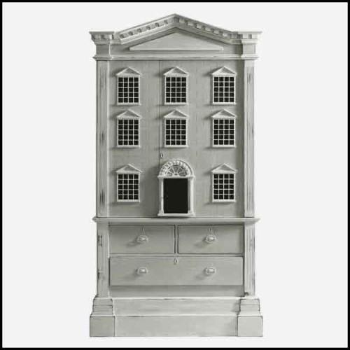 Colonne avec structure en marbre noir et base en marbre gris 24-Duro