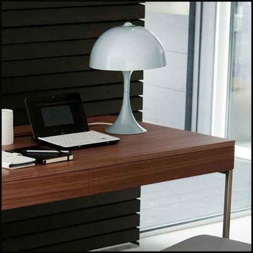 Table basse avec structure en acier inoxydable poli finition laiton satiné 173-Sturdy