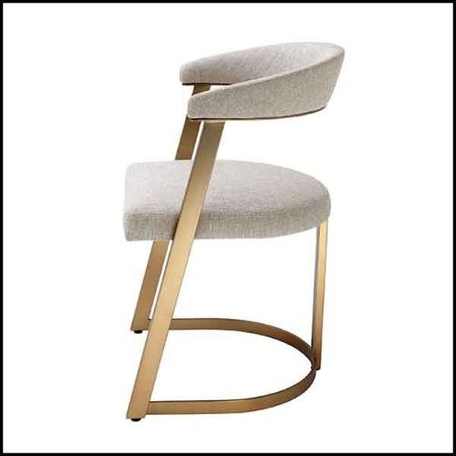Canapé avec structure en bois de peuplier massif et tissu gris anthracite 173-Anthracite Grey