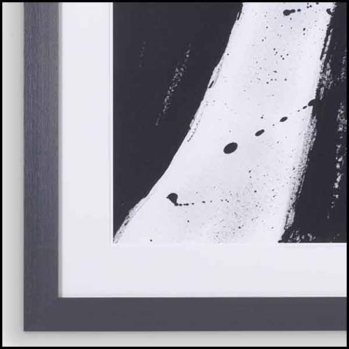 Table d'appoint avec structure en bois de hêtre massif et bois de noyer teinté 173-Accent