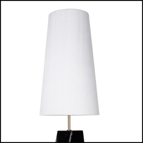 Console avec 2 pieds en acier inoxydable poli finition or et plateau en bois d'eucalyptus massif 174-Gold Feet