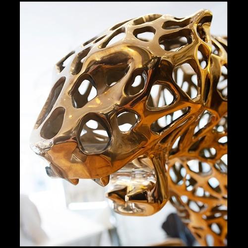 Fauteuil avec base en acier inoxydable poli finition Gold et revêtu en tissu en velours vert 174-Howard