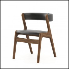 Chair with structure in solid walnut wood 174-Smart Walnut