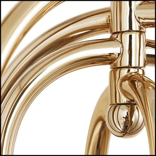 Table d'appoint avec structure en acier inoxydable poli plateau en verre imprimé finition agate taupe 173-Printed