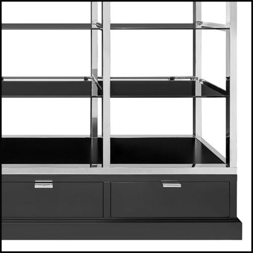 Tabouret rembourré et recouvert de tissu capitonné en velours vert 174-British Green
