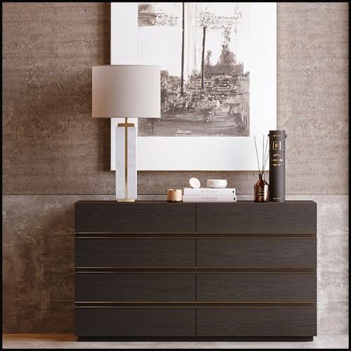Centre de table avec structure en bronze massif et 2 assiettes et base en porcelaine émaillée 162-Palms Center