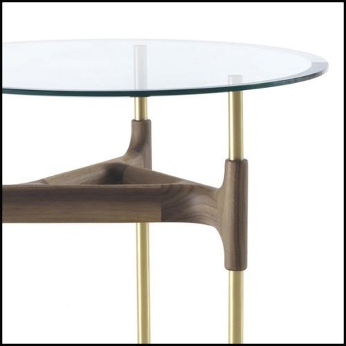 Canapé en cuir véritable noir naturel et avec accoudoirs en verre de sécurité PC-Fabio Lenci