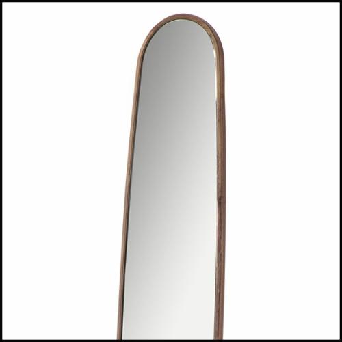 Sculpture léopard avec toute la structure en porcelaine peinte à la main avec détails en laiton sur la base 162-Standing Leopard